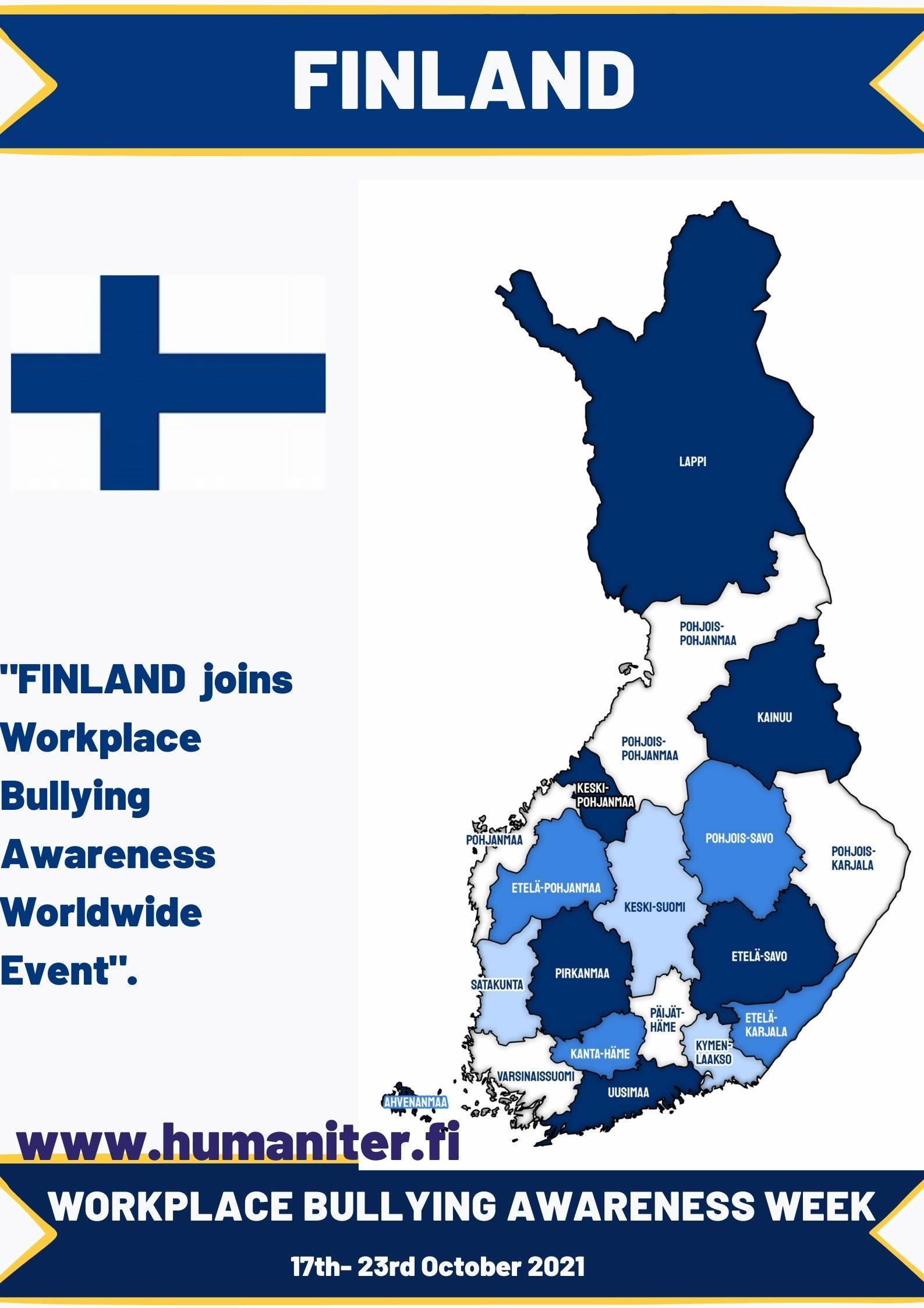 Workplace Bullying Awareness Week 2021, Finland