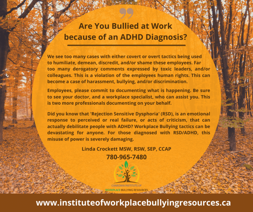 Are You Bullied at Work Because of an ADHD Diagnosis?
