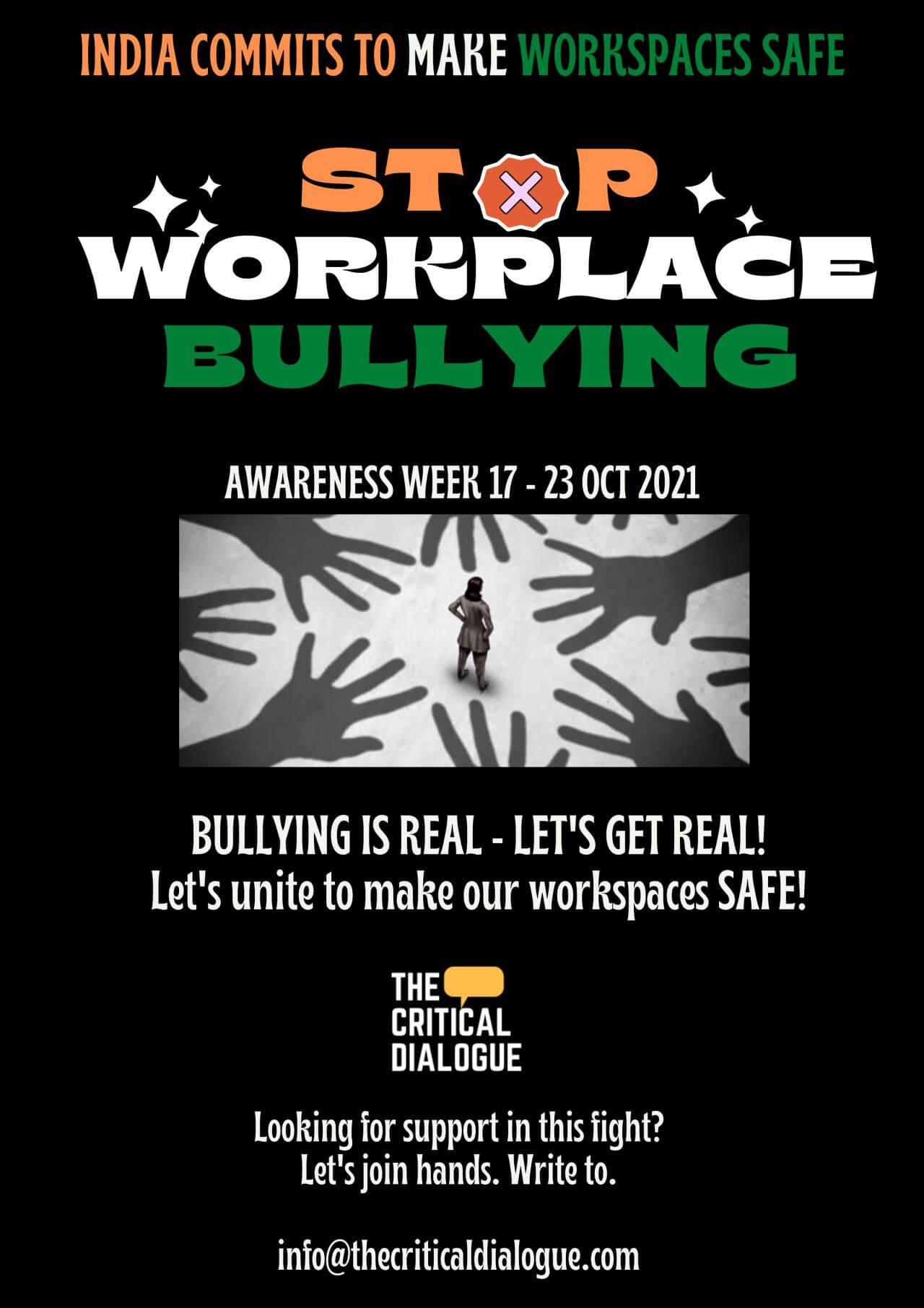 Workplace Bullying Awareness Week 2021, India