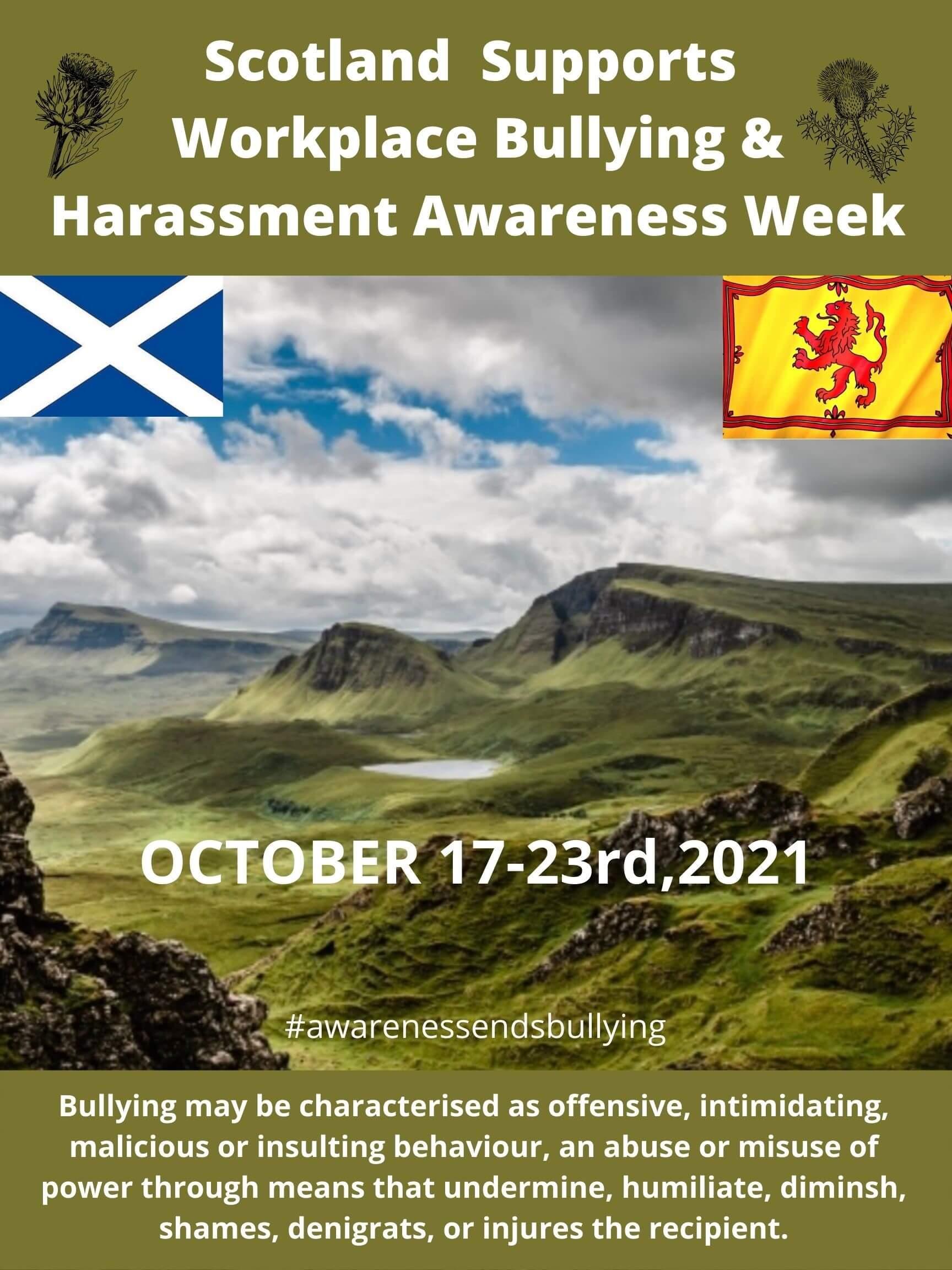 Workplace Bullying Awareness Week 2021, Scotland